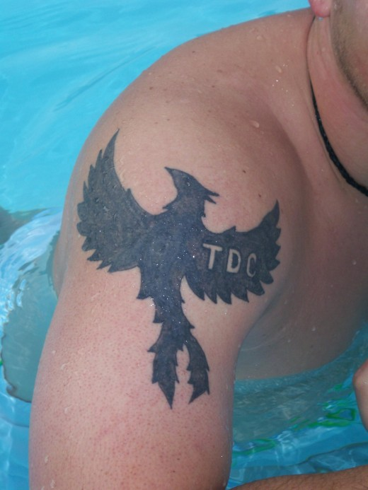 Phoenix made as phoenix tribal tattoos or phoenix Celtic tattoos are also