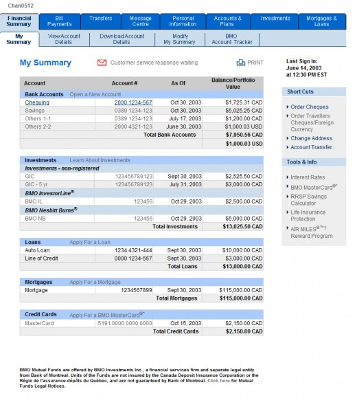 BMO Bank of Montreal Online Banking - oukas info