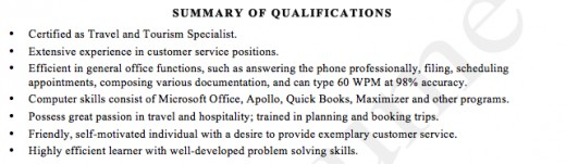 Example Qualifications Summary Administrative With Strenghts And Resume  Template Resume Summary Of Qualifications Template Skills And  Summary Of Qualifications On A Resume