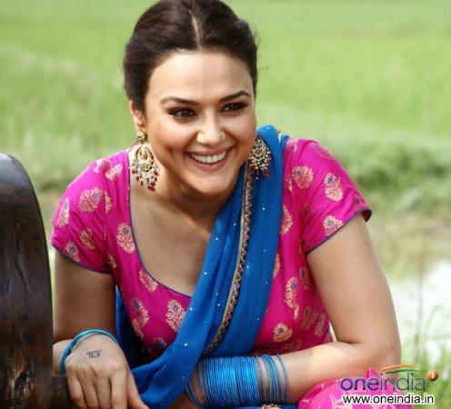 Bollywood Actress Preity Zinta Sexy Dimples