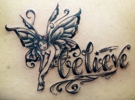 lucky tattoo. Fairy Tattoos