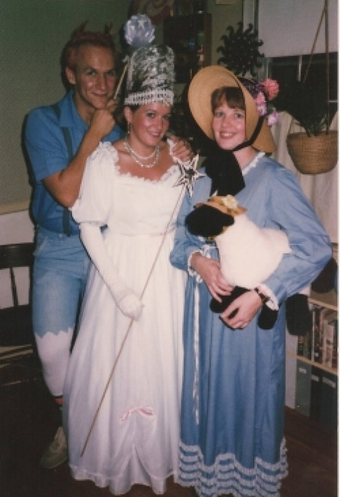 I'm the one in the Little Bo-Peep outfit. The other 2 costumed characters are librarians too.