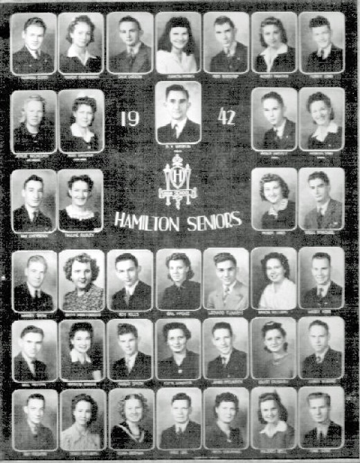 Gail's high school graduating class. Hamilton, Kansas. More about this in her third book that she's working on now.