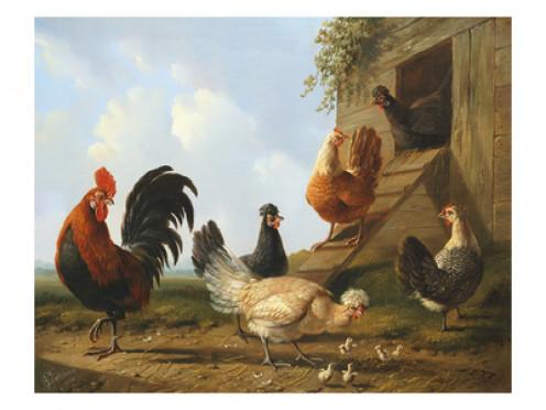 The Farmyard, 1860