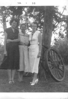 Gail Martin, Melba Harlan, and Carol Garriott in 1955. The McGhee Sisters, all grown up.