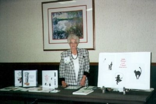 Gail Martin giving a presentation at the Kansas Authors Club convention. She served as archivist for the organization for ten years.