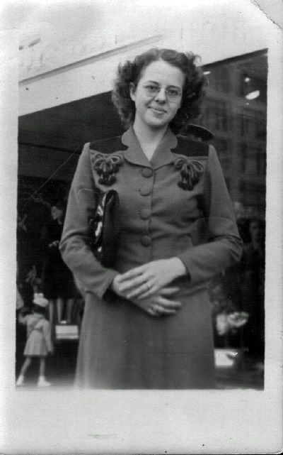 Gail McGhee (now Martin) during the time she worked in Wichita during World War II. There will be more about this in her third book.