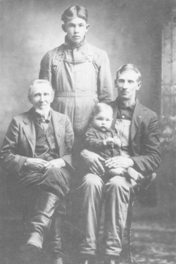 Abraham Tower, his son, grandson and great-grandson.
