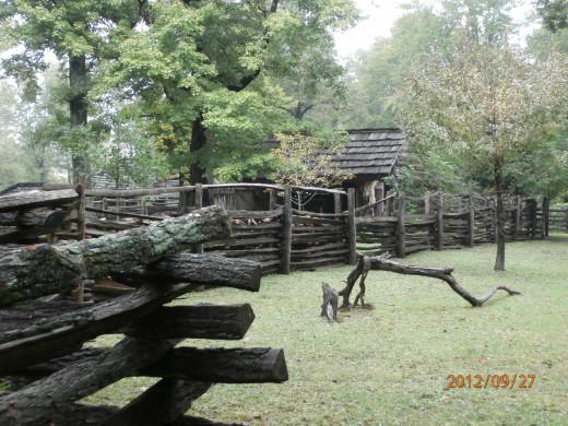 log cabin in Indiana