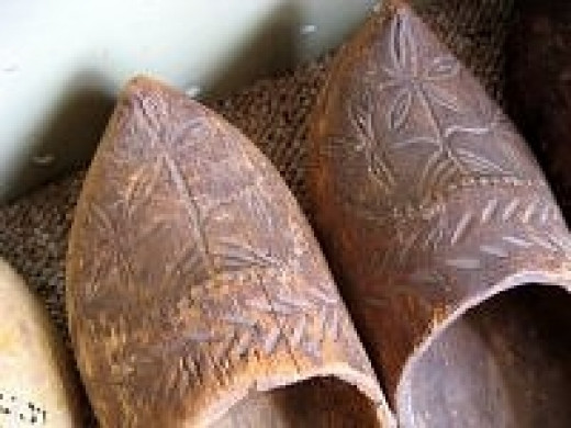 vintage Dutch clogs shoes