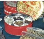 They sold the nuts and also made spiced nuts and candies with the walnuts.