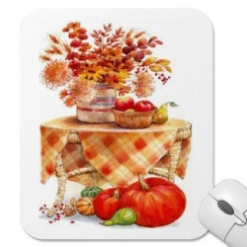 This colorful mousepad has all the fall colors that I love. The tans and rusts and the bursts of bold orange.
