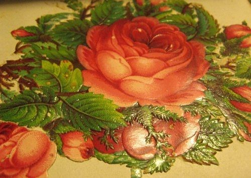 Victorian die-cut art (similar a sticker) from the autograph book