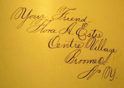 Flora A. Estes Signature in the Autograph Book
