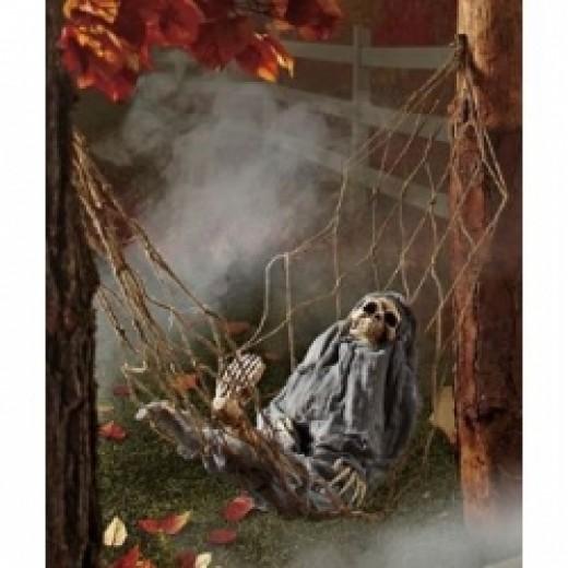 Spooky figure, fog, ... it must be Halloween.