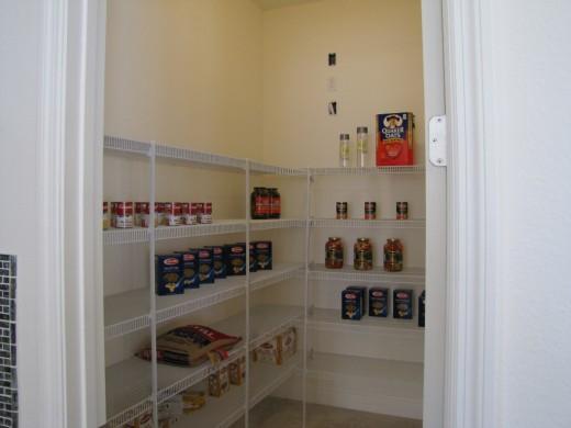 Spacious pantry.