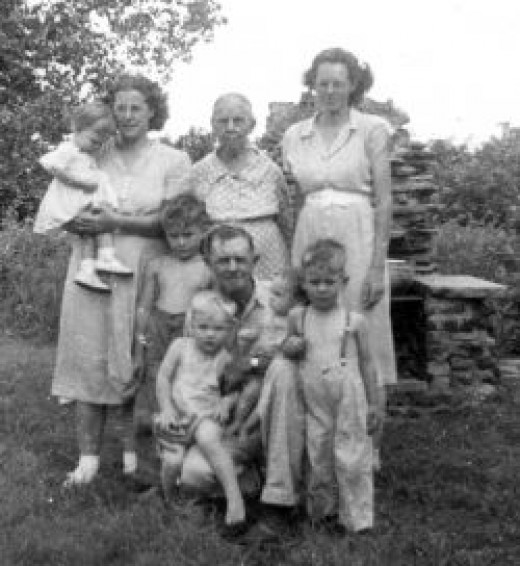 Four generation photo of McGhees.