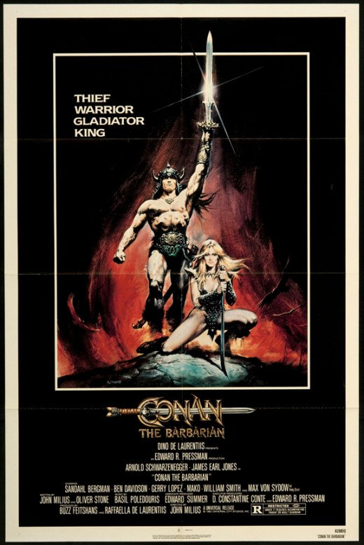 While Marvel had published  a comic book called Conan the Barbarian, they did not own the character.  They may had been responsible for Conan's resurgence popularity, but had nothing to do with the movie.