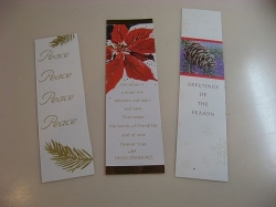 examples of christmas bookmarks - see how varied they can be