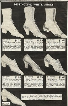 White Shoes in 1918