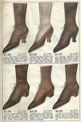 Laced Boots for the Ladies in 1918