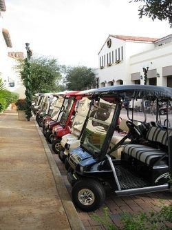 Ready to head off in the golf cart for some fun on the course?