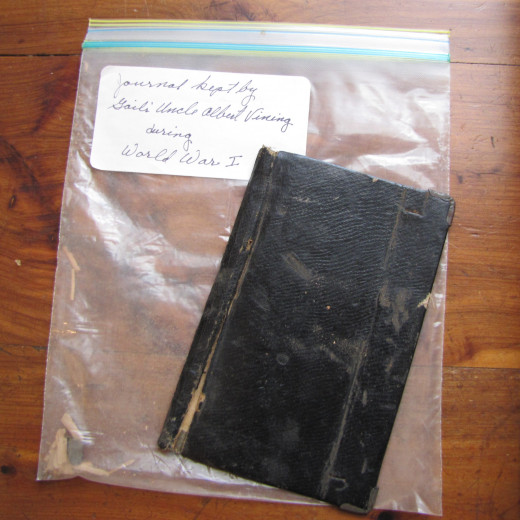 My great-uncle's diary from World War I.  Albert Vining
