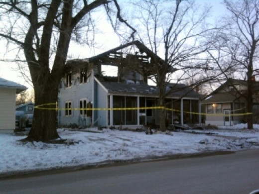 The other house fire, several weeks after mine.