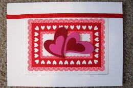 Foam stickers add dimension to this Valentine.