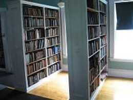 Books on shelves at Wakefield Library