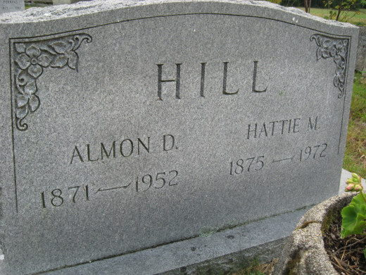 Almon D. and Hattie M. Hill (a tree on ancestry.com lists Hattie's maiden name: Hattie Mabel Robinson