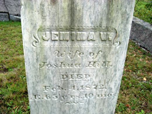 Jemima W. Hill (wife of Joshua Hill)