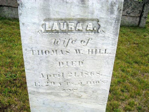 Laura A. Hill (wife of Thomas)