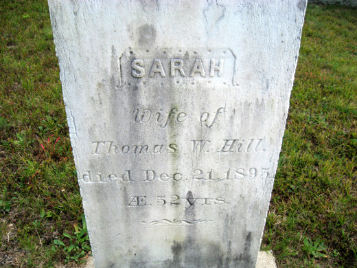 Sarah Hill (2nd wife of Thomas W. Hill)