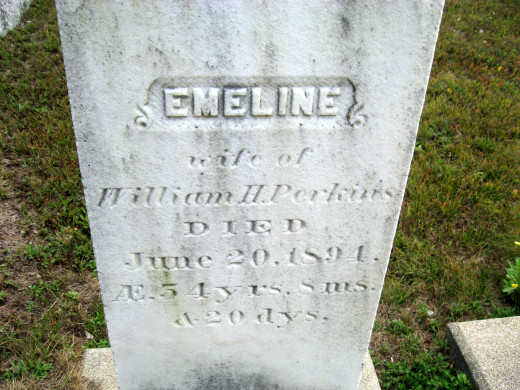 Emeline (wife of William H. Perkins)
