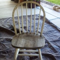Remove previous finishes before applying milk paint.