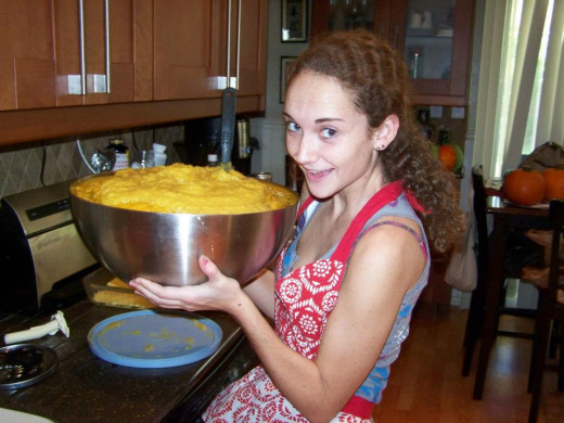 A Giant Bowl of Pumpkin Puree!