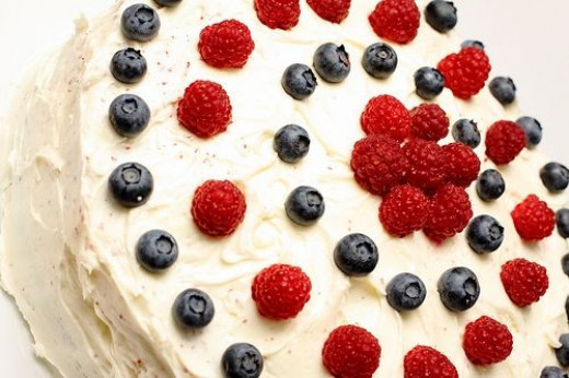 red-white-and-blue cake