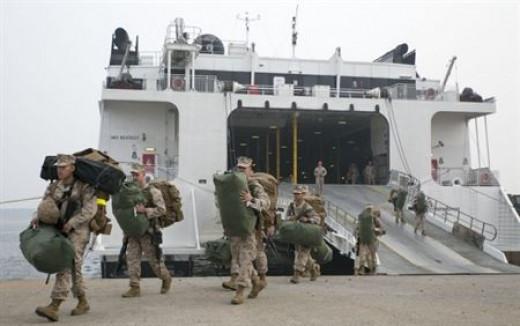 Marines (USMC Photo/Lance Cpl. Cedric R. Haller II)