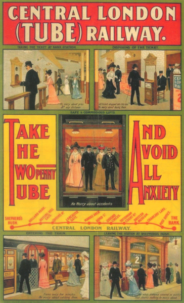 Promoting The Travel By Tube in 1905