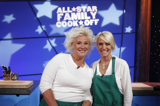 [Photo: JDRF.org] -- Chef Anne Burrell and sister Jane Burrell-Uzcategui supporting JDRF on the set of Food Network's All Star Family Cook-Off.