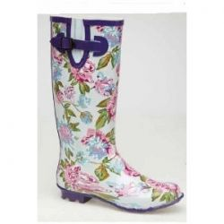 Floral Extra-Wide Wellie