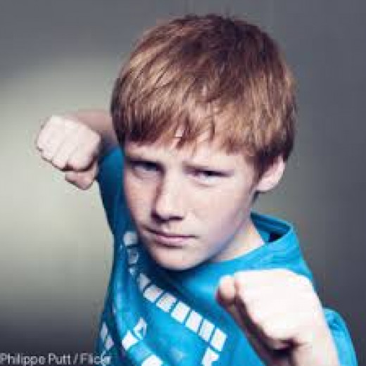 Anger in children can be sometimes aggressive