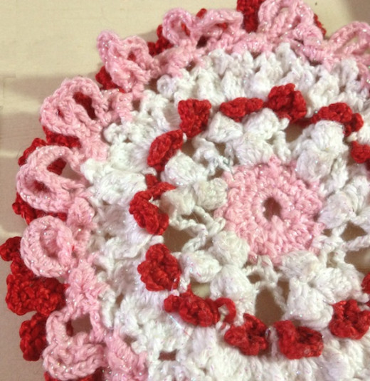 "My ""I Heart Hearts"" Mini Doily/Candle Cover, pattern"
