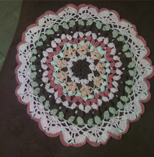 Designed the Pink & Brown doily in February 2007. While it's not a heart, I love to decorate with it for the colors around Valentine's Day.