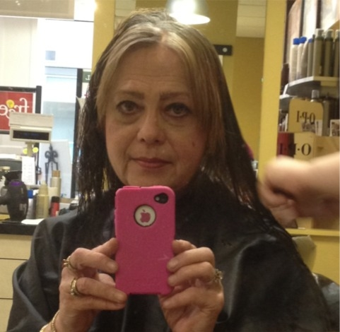 May 2012, time for a long overdue haircut! Took off about 3 inches and thought it was going to kill me at the time!