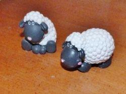 Plastic Sheep Figurines