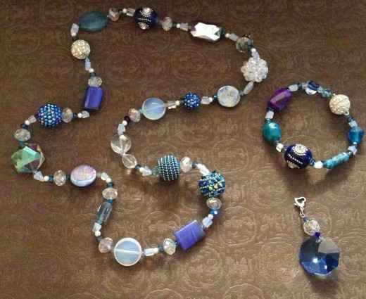 My Changeable Magnetic Gem & Crystal Necklace & Bracelet Available In My Etsy Shop In Choice Of Color Theme!