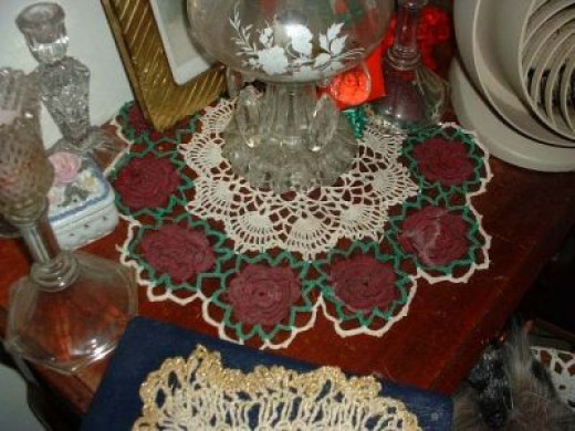 One Of My 1953 Workbasket Rose Doilies