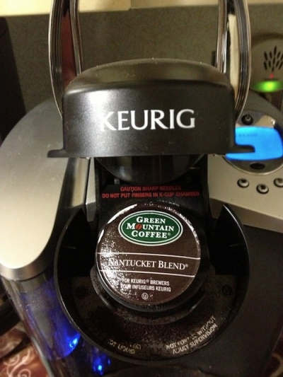 Here's What A K-Cup Looks Like, Popped Into The Keurig B-40